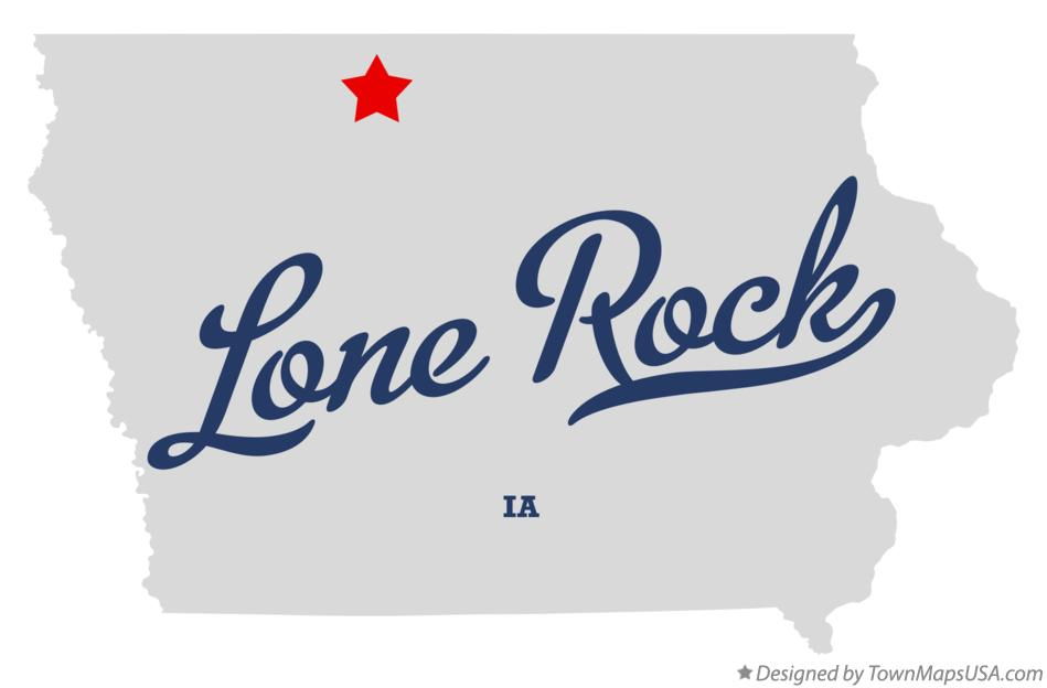 Map of Lone Rock Iowa IA