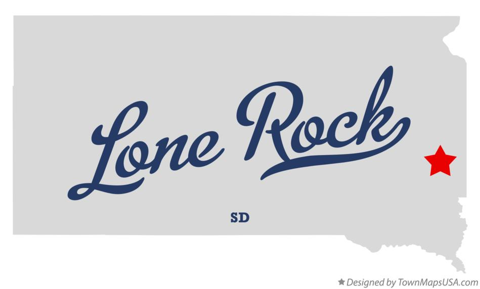 Map of Lone Rock South Dakota SD