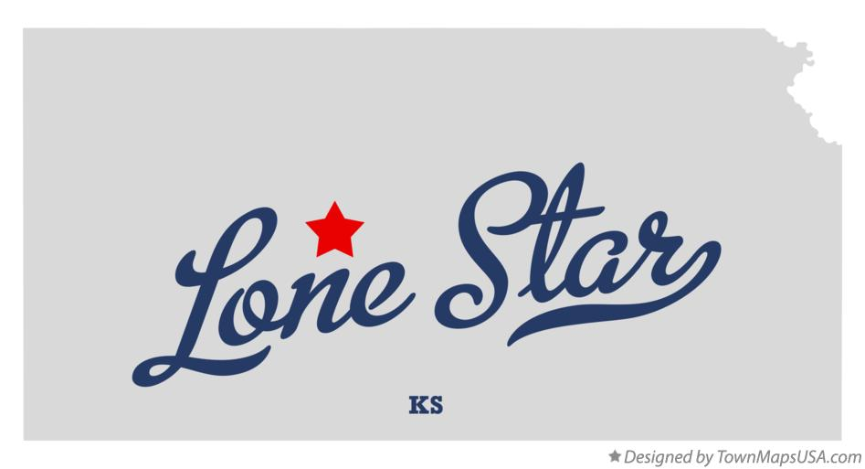 Map of Lone Star Kansas KS