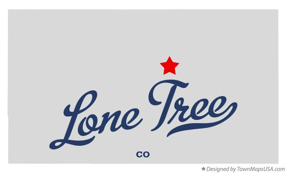 Map of Lone Tree Colorado CO