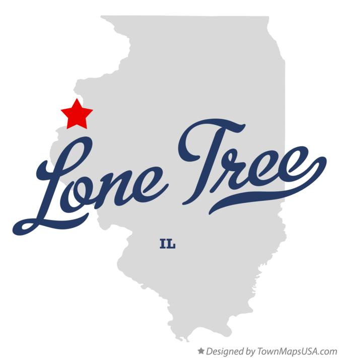 Map of Lone Tree Illinois IL
