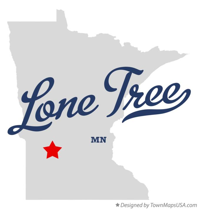 Map of Lone Tree Minnesota MN