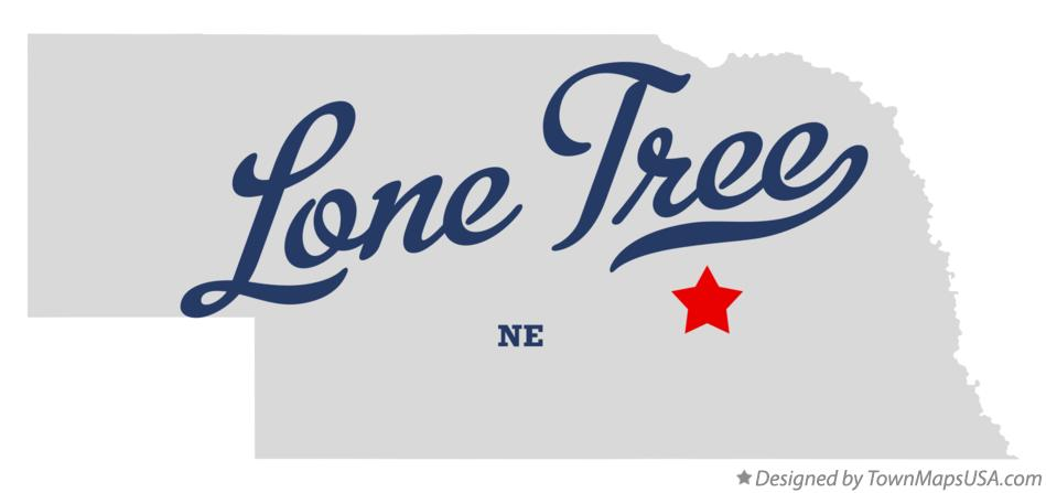 Map of Lone Tree Nebraska NE