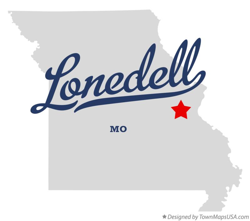 Map of Lonedell Missouri MO