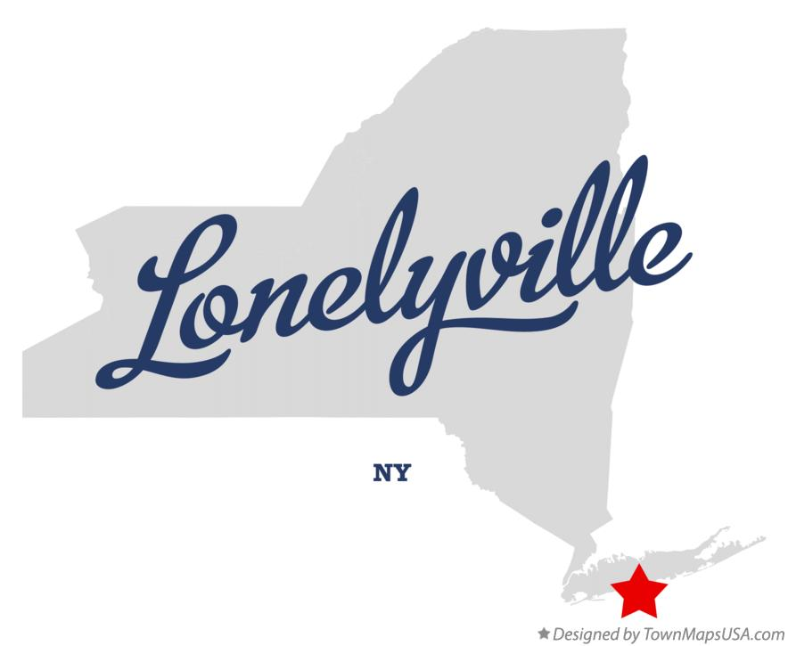 Map of Lonelyville New York NY