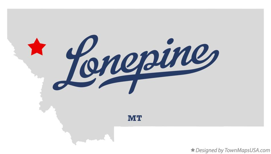 Map of Lonepine Montana MT