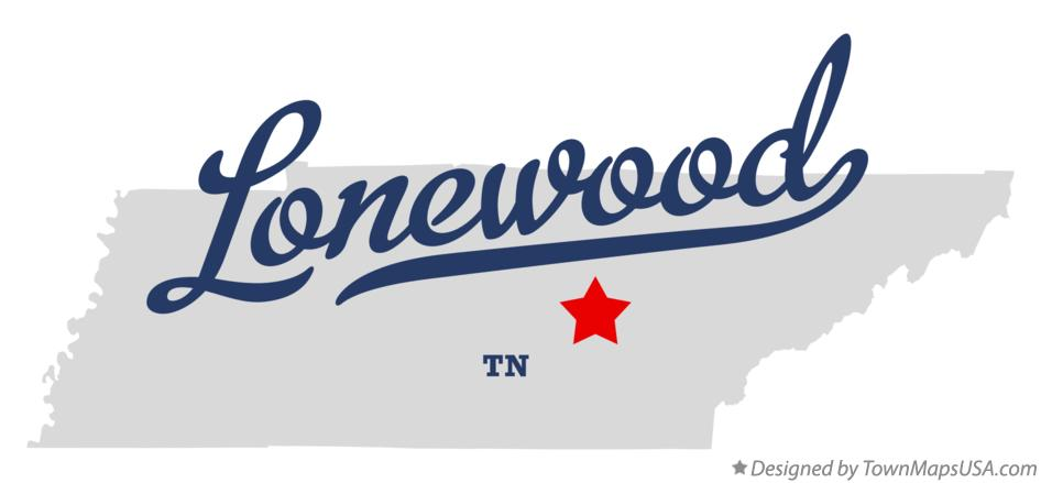 Map of Lonewood Tennessee TN