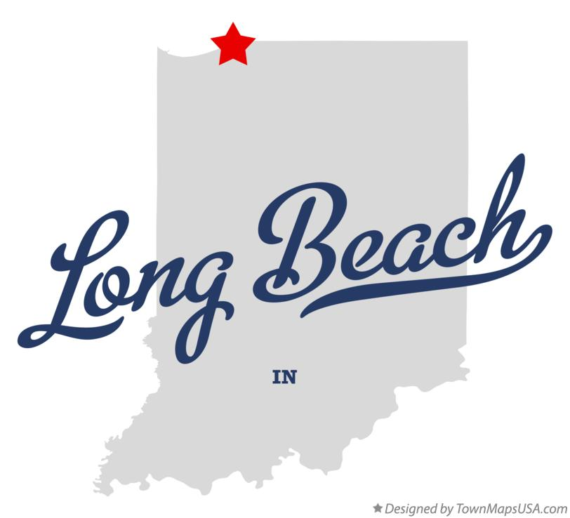 Map of Long Beach Indiana IN