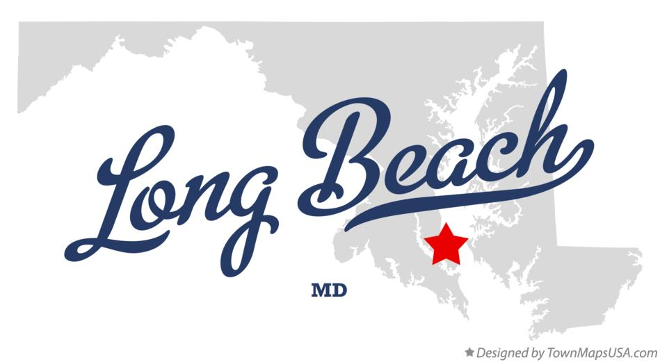 Map of Long Beach Maryland MD