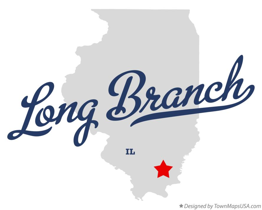 Map of Long Branch Illinois IL
