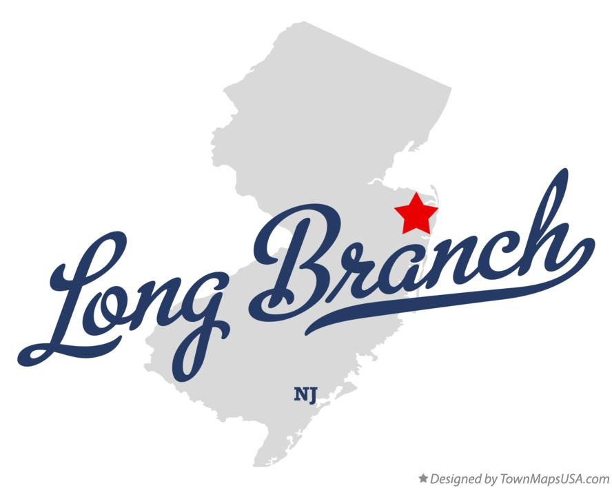 Map of Long Branch New Jersey NJ