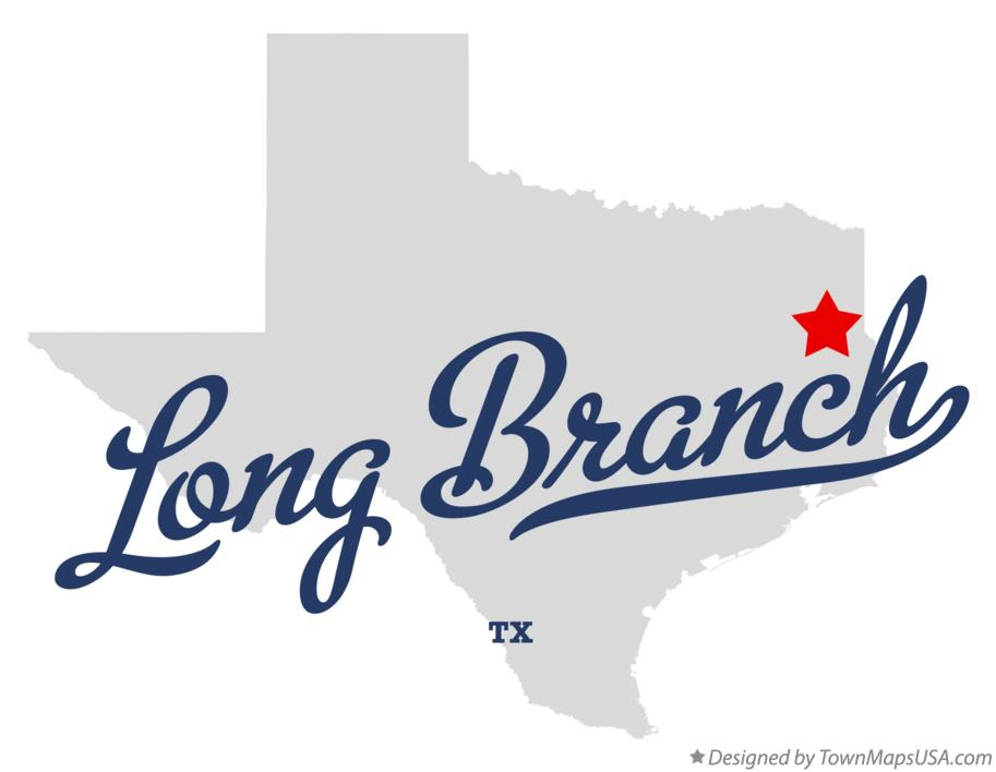 Map of Long Branch Texas TX