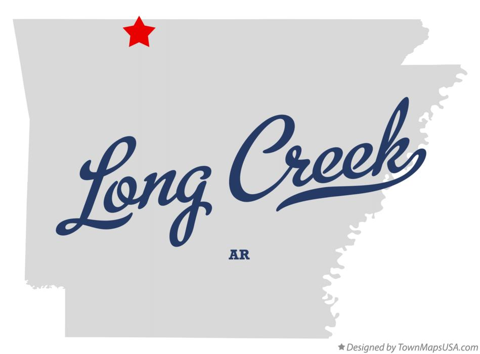 Map of Long Creek Arkansas AR