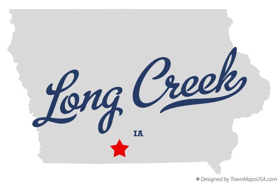 Map of Long Creek Iowa IA