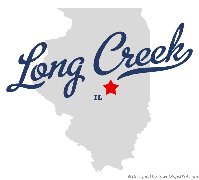 Map of Long Creek Illinois IL