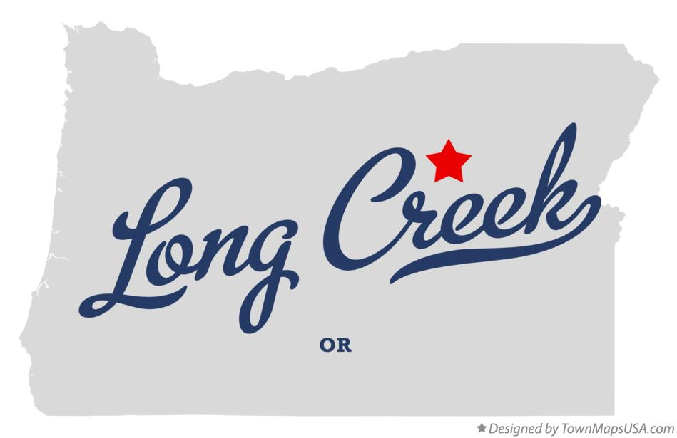 Map of Long Creek Oregon OR