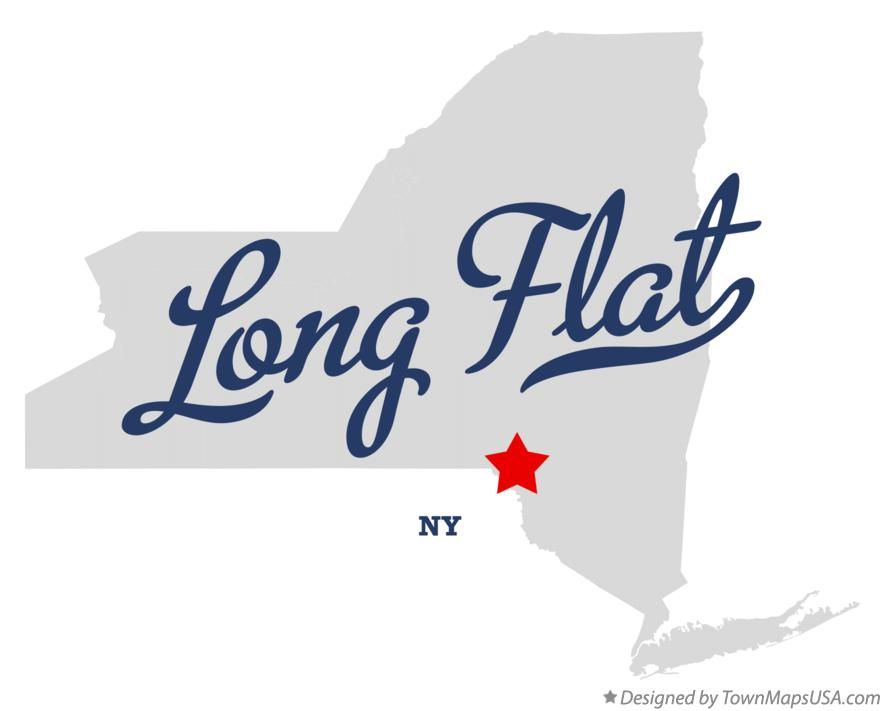 Map of Long Flat New York NY
