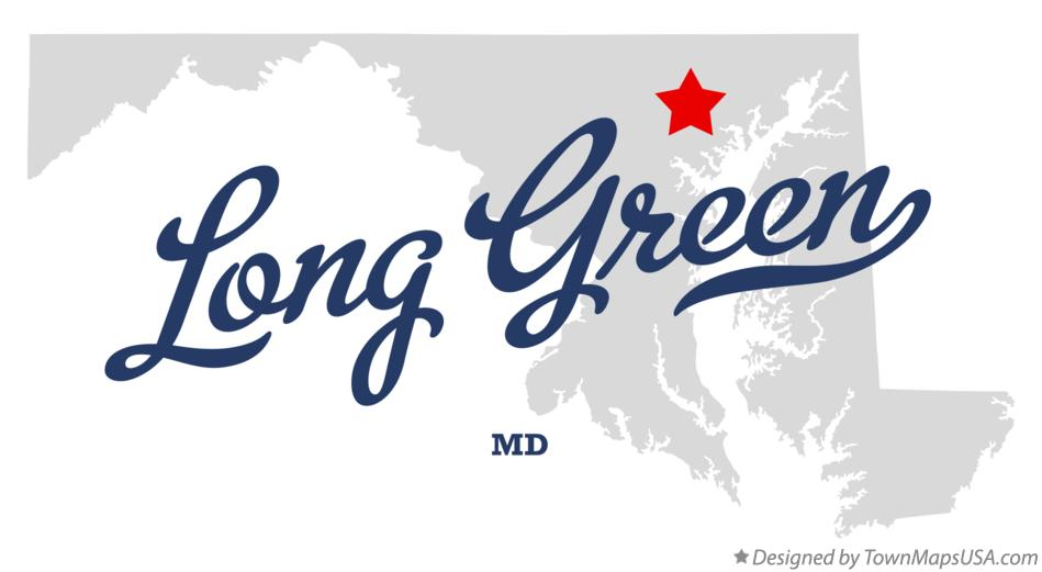 Map of Long Green Maryland MD