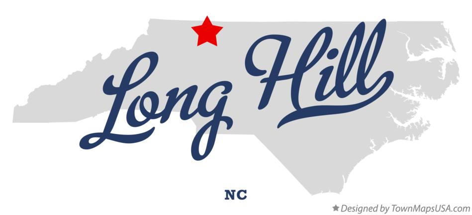 Map of Long Hill North Carolina NC