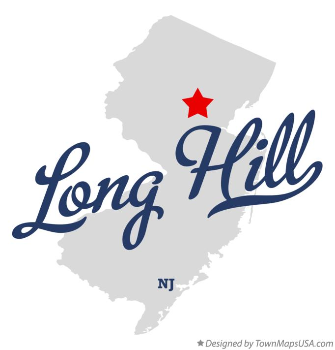 Map of Long Hill New Jersey NJ
