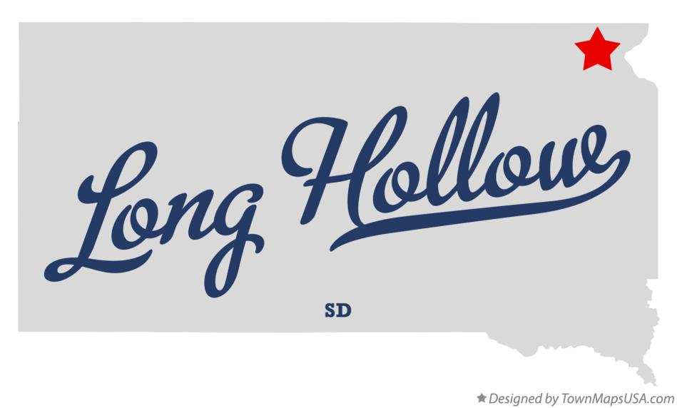 Map of Long Hollow South Dakota SD