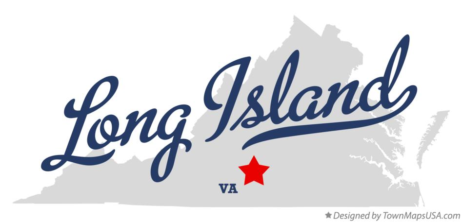 Map of Long Island Virginia VA