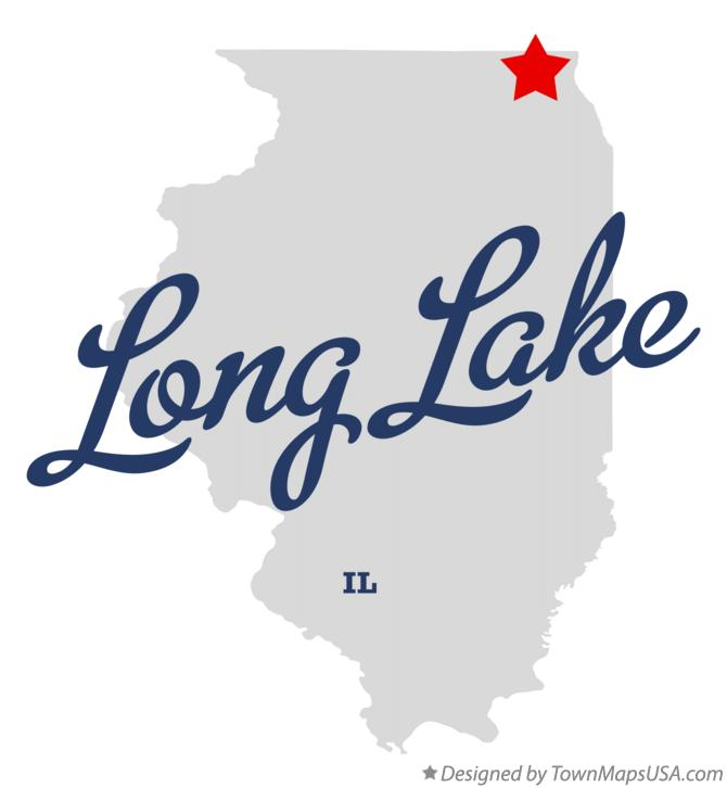 Map of Long Lake Illinois IL