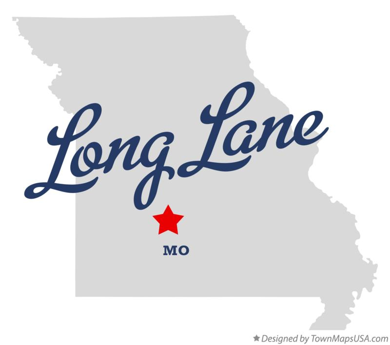 Map of Long Lane Missouri MO