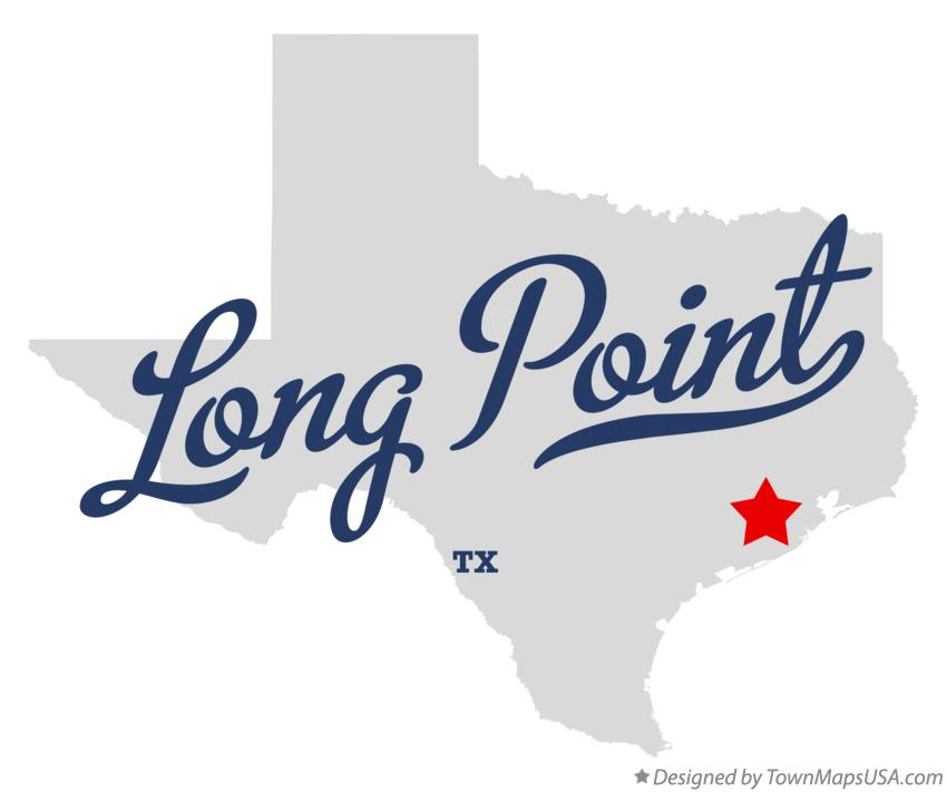 Map of Long Point Texas TX