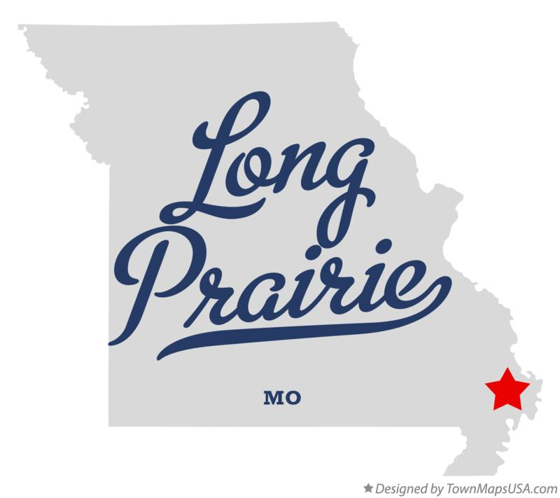 Map of Long Prairie Missouri MO