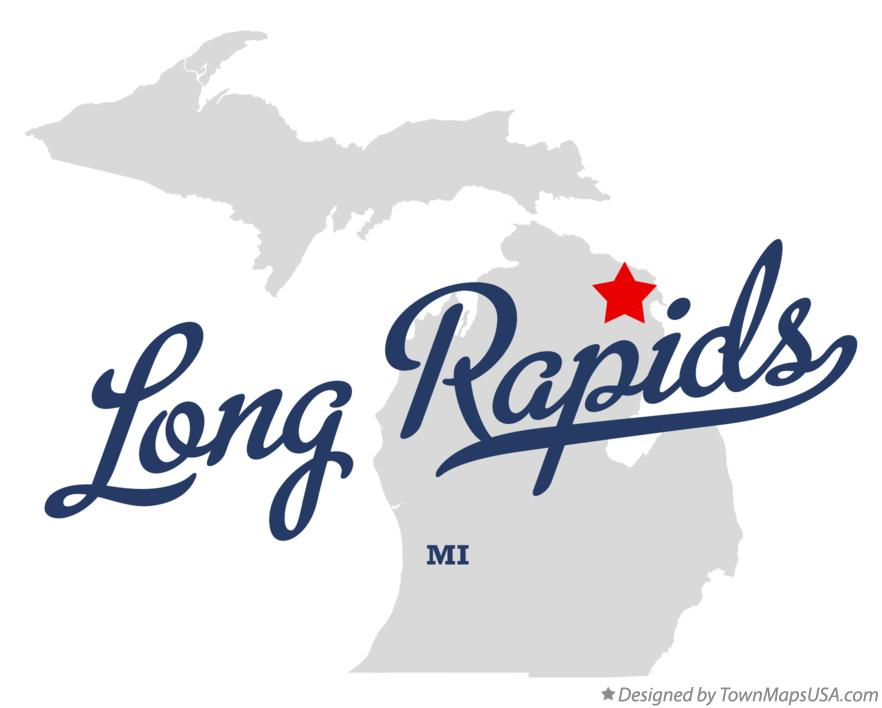 Map of Long Rapids Michigan MI