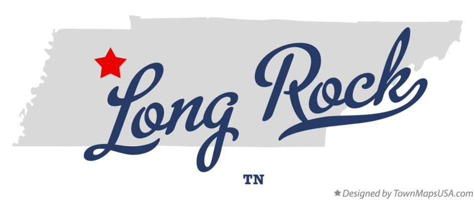 Map of Long Rock Tennessee TN