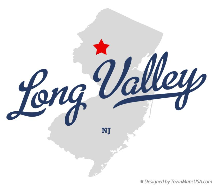 Map of Long Valley New Jersey NJ