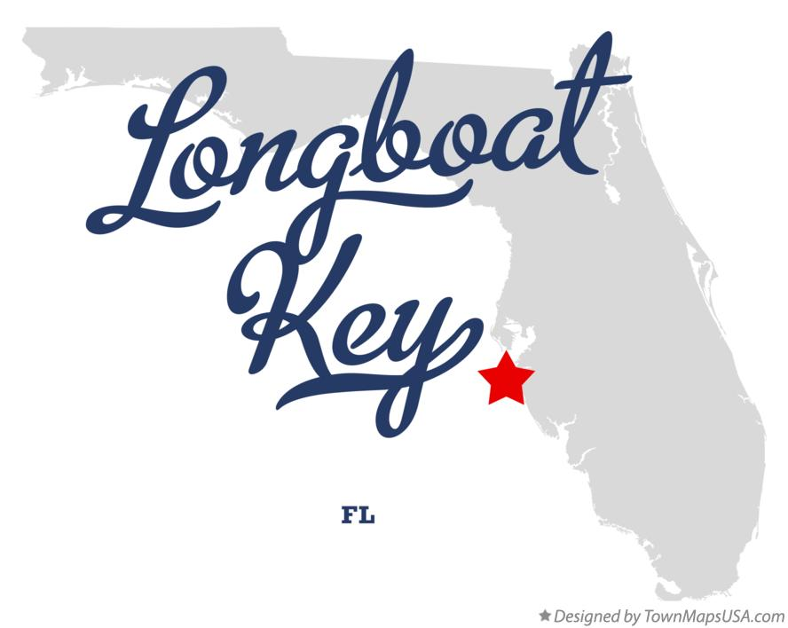 Map of Longboat Key Florida FL