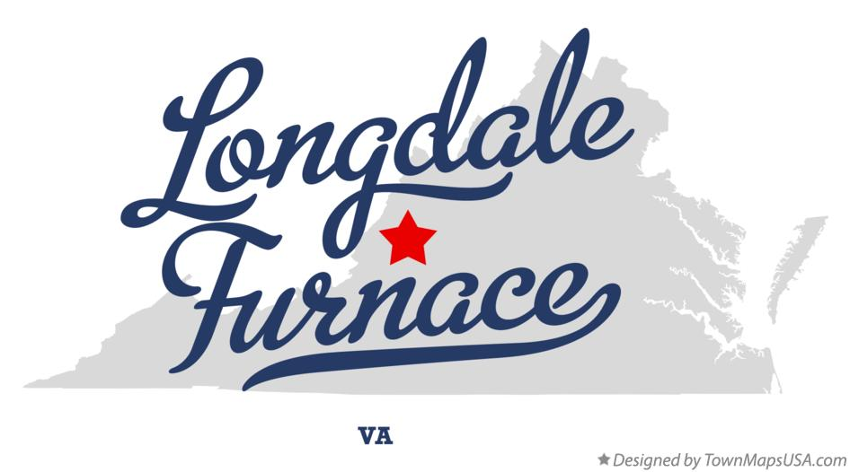 Map of Longdale Furnace Virginia VA