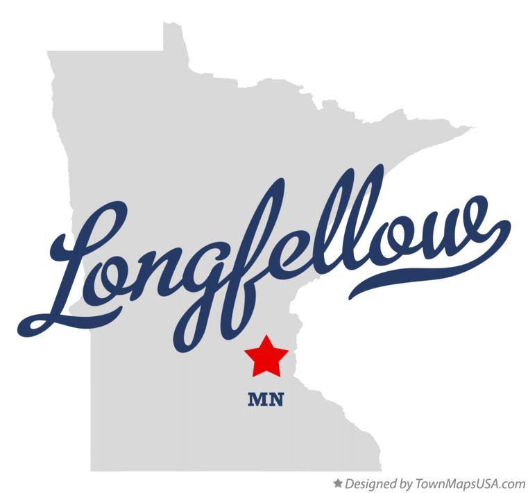 Map of Longfellow Minnesota MN