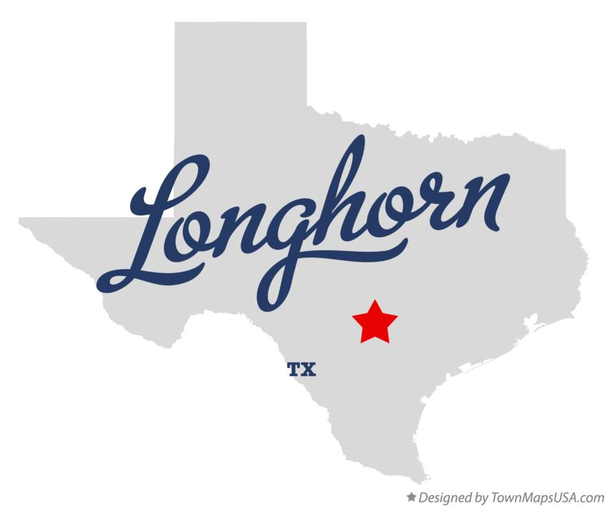 Map of Longhorn Texas TX