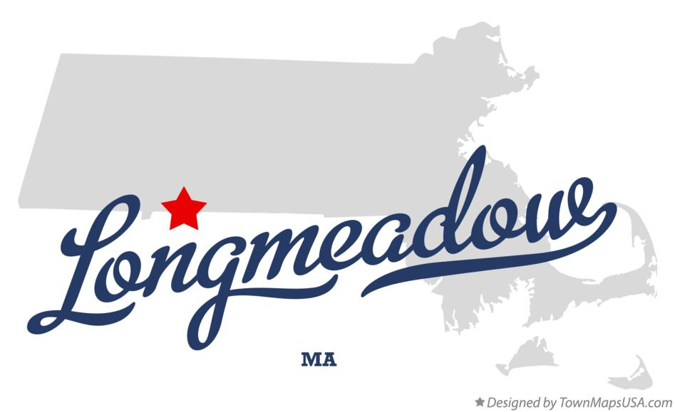 Map of Longmeadow Massachusetts MA