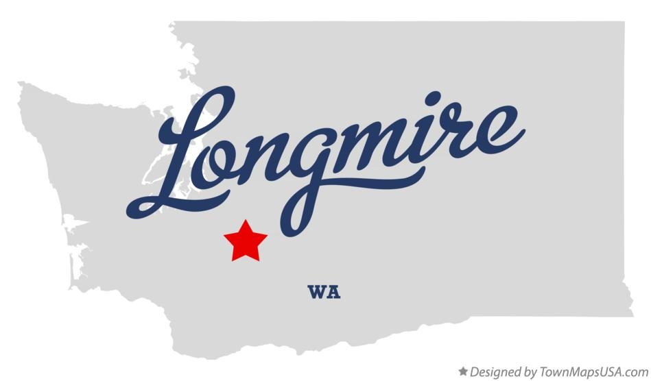 Map of Longmire Washington WA