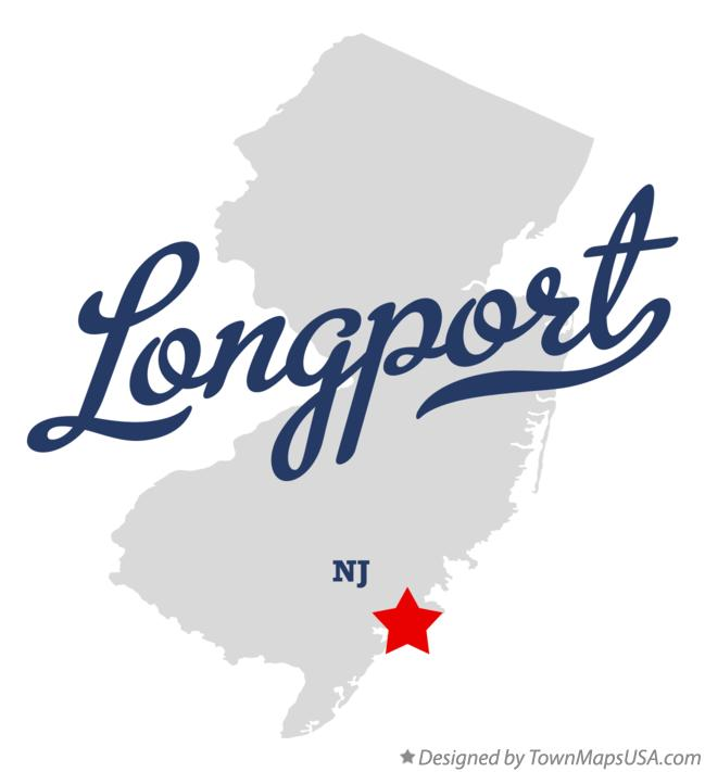 Map of Longport New Jersey NJ