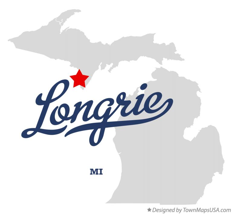 Map of Longrie Michigan MI