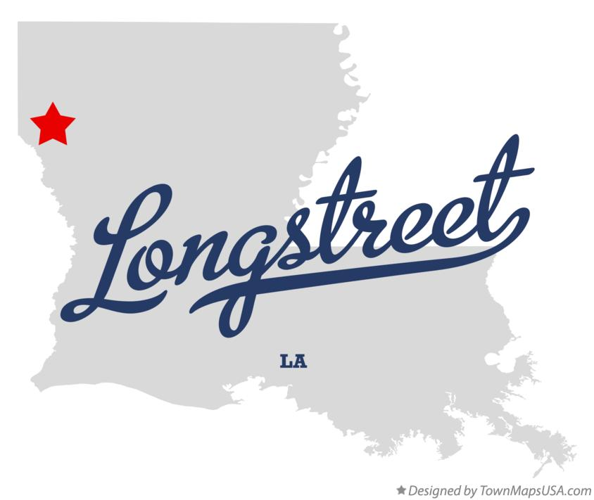Map of Longstreet Louisiana LA