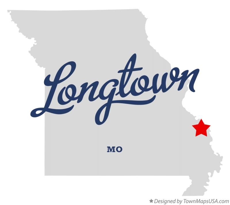 Map of Longtown Missouri MO