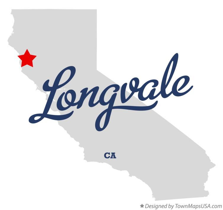 Map of Longvale California CA
