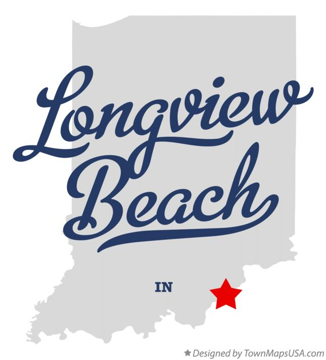 Map of Longview Beach Indiana IN