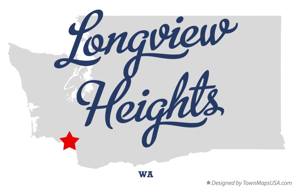 Map of Longview Heights Washington WA