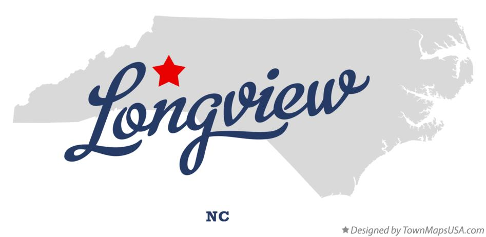 Map of Longview North Carolina NC