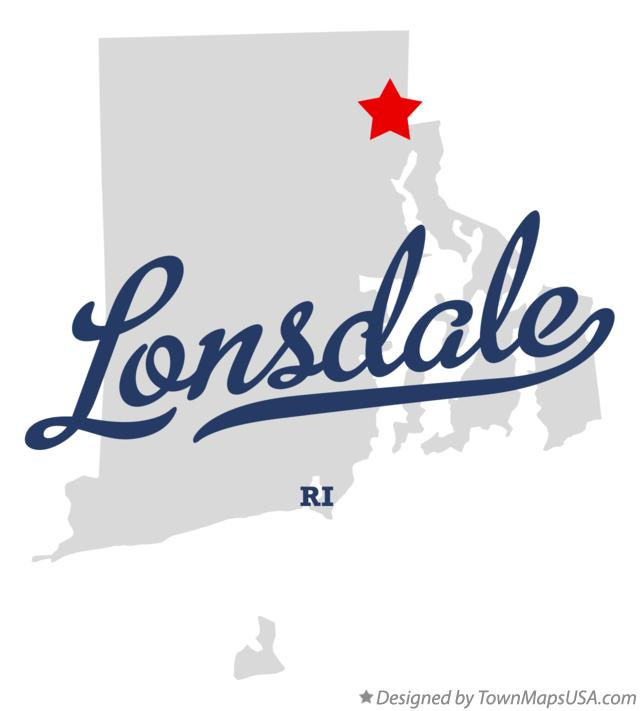 Map of Lonsdale Rhode Island RI