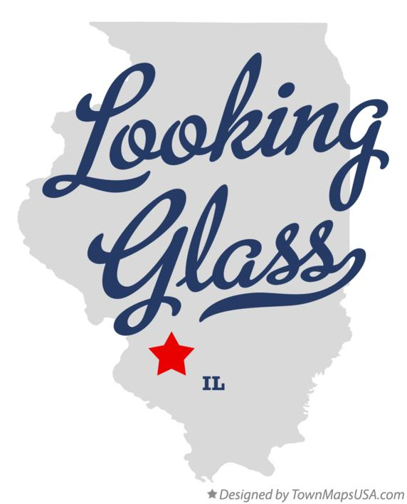 Map of Looking Glass Illinois IL