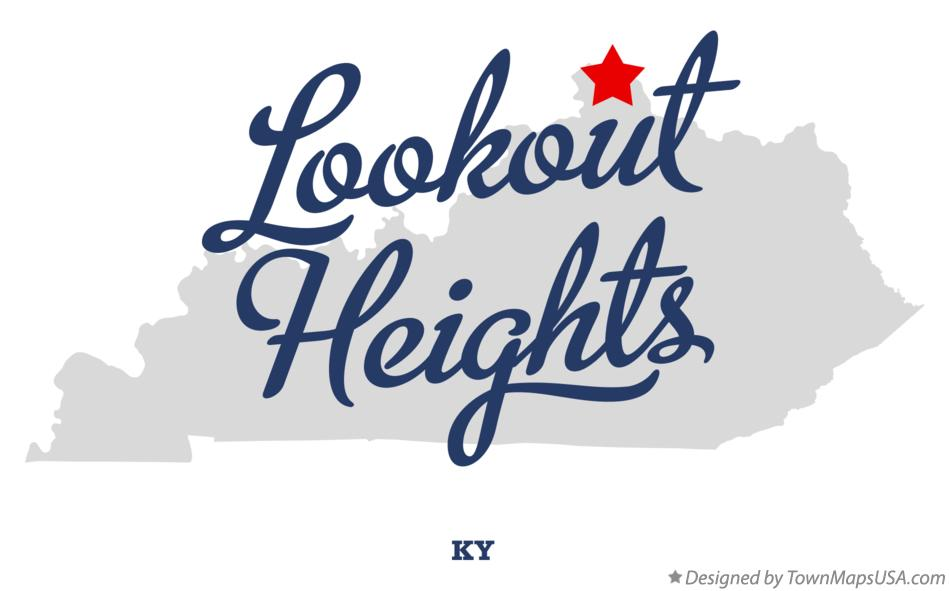 Map of Lookout Heights Kentucky KY